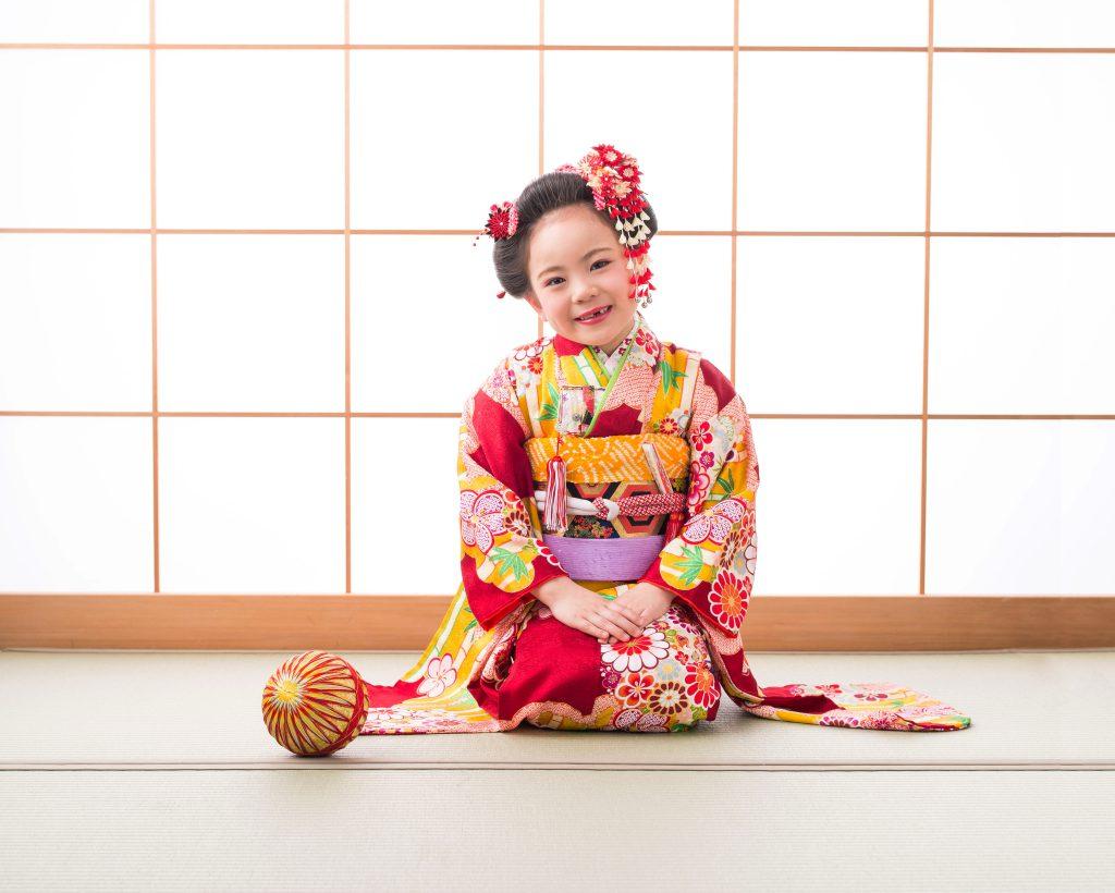 七歳日本髪