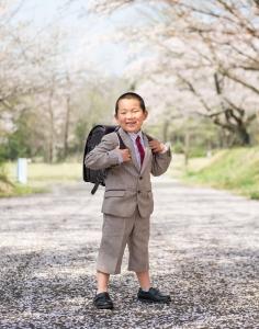 桜入学写真