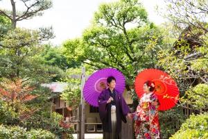 日本庭園結婚写真