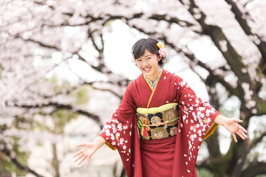成人式の桜ロケーション撮影03