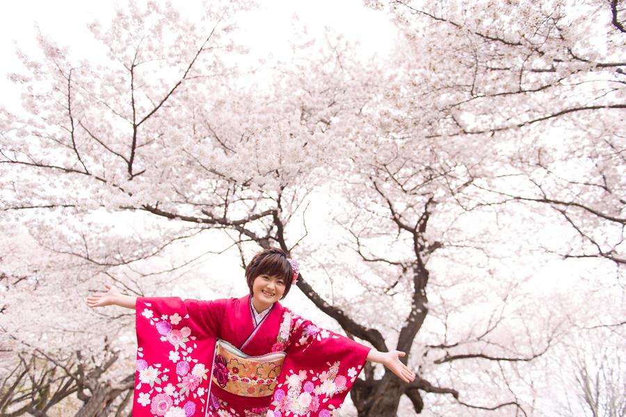 成人式の桜ロケーション撮影04