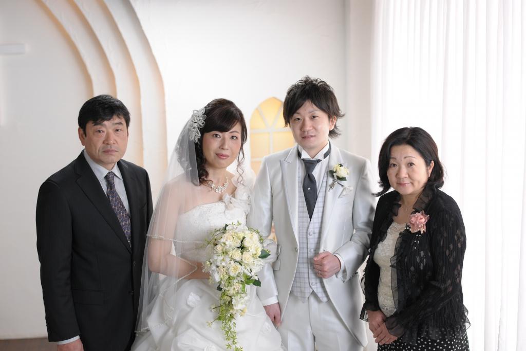 結婚家族写真