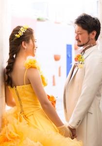カラードレス黄色