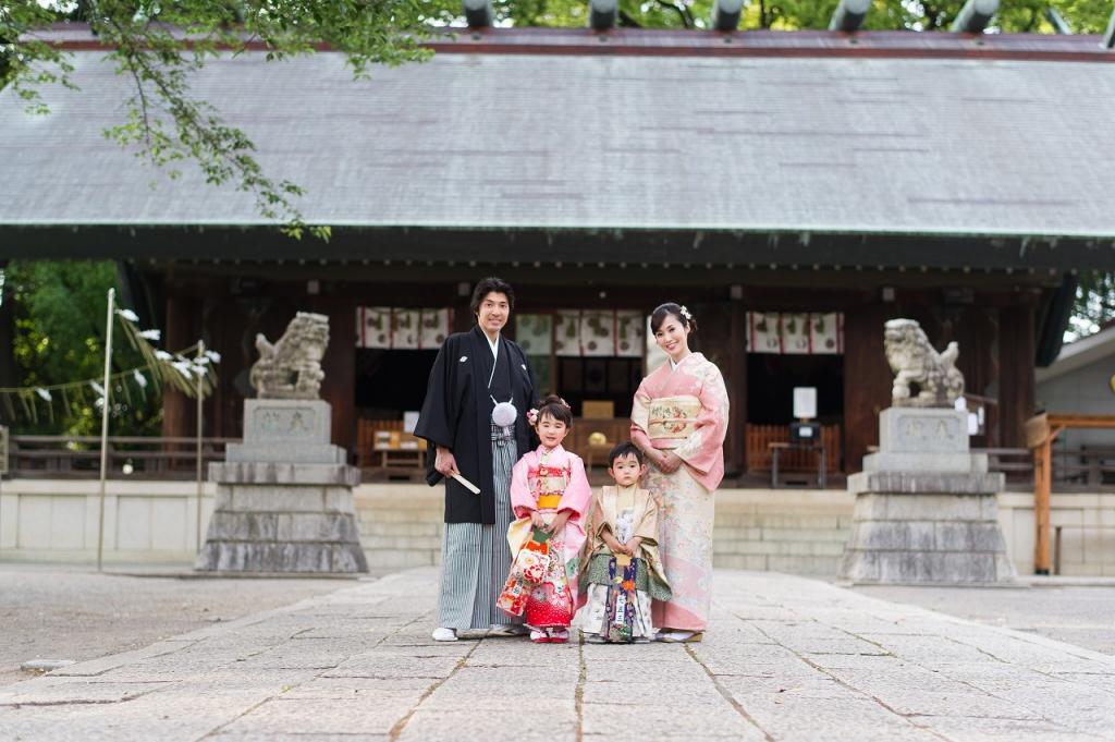 所澤神明社,所沢,七五三,ロケ,家族写真,祈祷