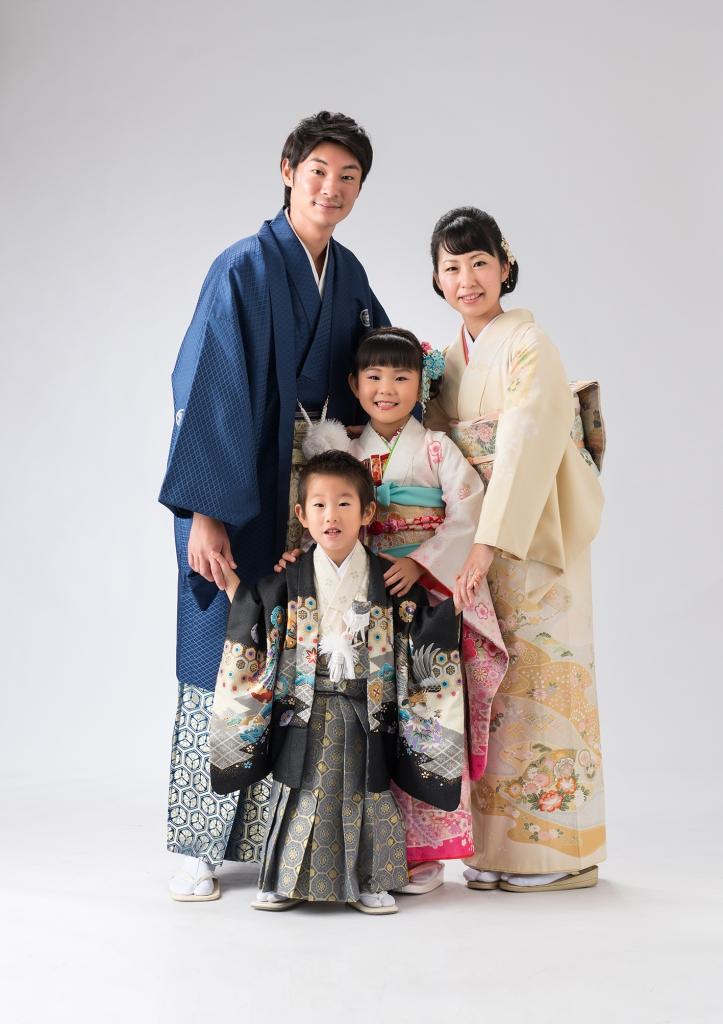 所澤神明社,所沢,七五三,着物,家族写真