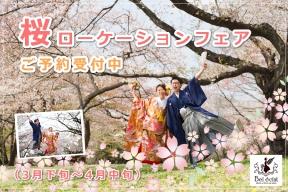 限定30組の「桜ロケーションフェア2018」のご予約受付中(3月下旬~4月中旬)2月末までの早期申込特典あり!