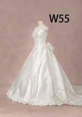 白ドレスW55